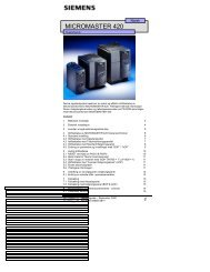 MICROMASTER 420 - Siemens AS