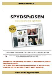om spydspidsen - Danske Dagblades Forening