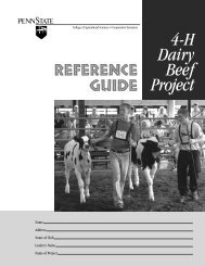 4-H Dairy Beef Project - Penn State University