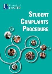 STUDENT COMPLAINTS PROCEDURE - University of Ulster