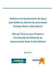Manual de Instalações - Sistema de Aquecimento Solar e ... - Comgás