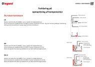 Forklaring på opmærkning af komponenter