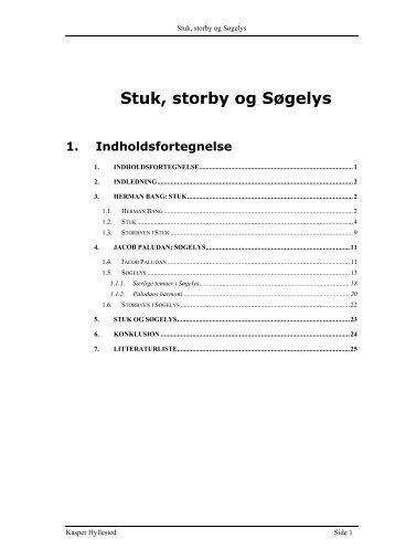 Stuk, storby og Søgelys - Kasper Hyllesteds weblog