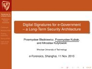 Digital Signatures for e-Government -- a Long-Term Security ...