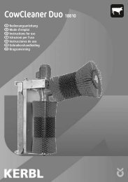 Guide d'utilisation - Albert Kerbl GmbH