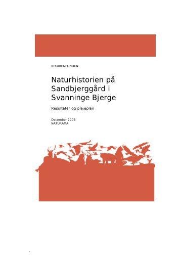 Naturhistorien på Sandbjerggård i Svanninge Bjerge