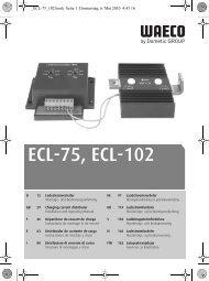 ECL-75, ECL-102 - Waeco