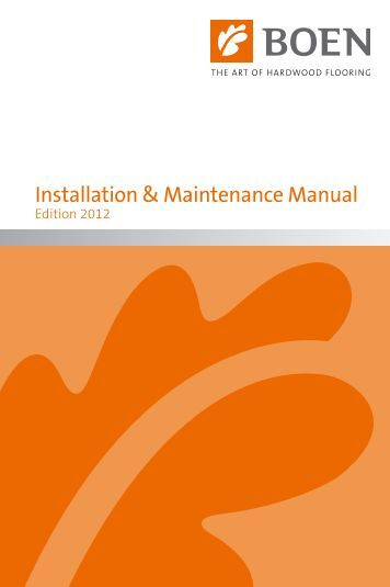 Installation & Maintenance Manual - Boen