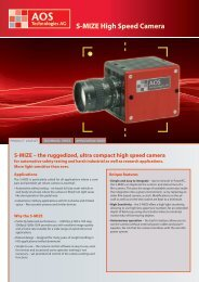 S-MIZE High Speed Camera - AOS Technologies AG