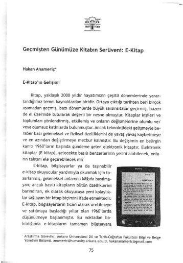 E- Kitap - Bilgi ve Belge Yönetimi