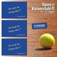 Kaiserstuhl Open 2013   TC Bahlingen