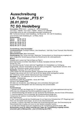 1657-11-Ausschreibung LK Turnier PTS 5.pdf - Turnierportal ...