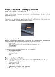 Design og materialer – udvikling og innovation
