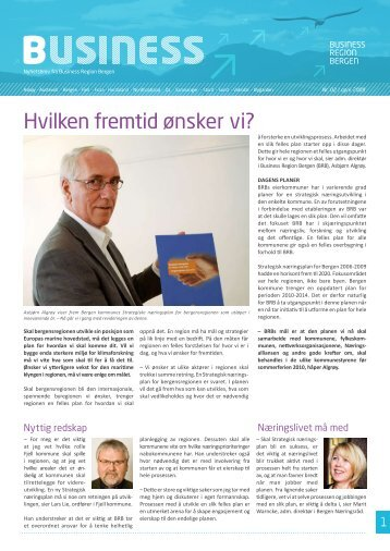 Hvilken fremtid ønsker vi? - Business Region Bergen