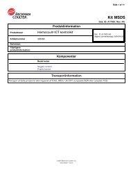 Beckman Coulter® Kit MSDS