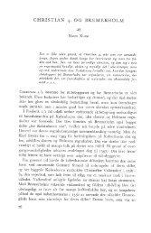 CHRISTIAN 4. OG BREMERHOLM Af - Handels- og Søfartsmuseet