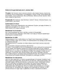 Referat af brugerrådsmøde den 6. oktober 2005 Godkendelse af ...