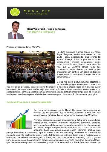 MonaVie Brasil – visão de futuro Por Mauricio Patrocinio ...