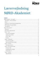 Lærervejledning NØRD-Akademiet - DR