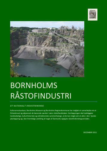 BORNHOLMS RÅSTOFINDUSTRI - Bornholms Regionskommune