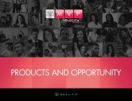products and opportunity - On the Move Media Center - MonaVie
