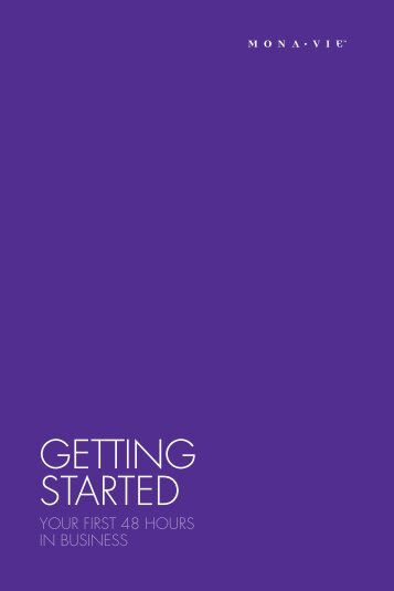 GettinG Started - On the Move Media Center - MonaVie