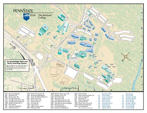 Campus Map - Penn State Erie on