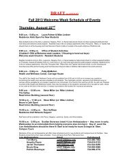 Fall 2013 Welcome Week Schedule of Events ... - Penn State Erie