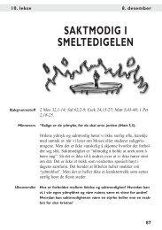 SAKTMODIG I SMELTEDIGELEN - Bibelstudier