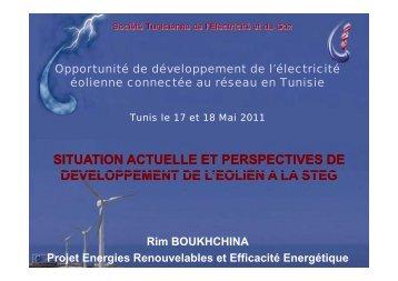 Madame Rim Boukhchina, STEG - AHK Tunesien