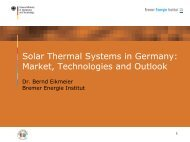Solar cooling - AHK Tunesien