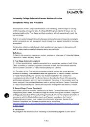 Complaints Policy and Procedure - Careers Advisory Service ...