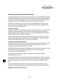 Alternate Format Policy - Careers Advisory Service - University ...