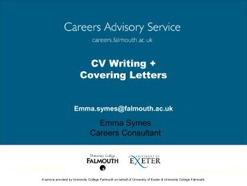 CV's & Covering Letters 2012 - Careers Advisory Service ...
