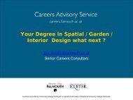 Your Degree in Spatial / Garden / Interior Design what next ?