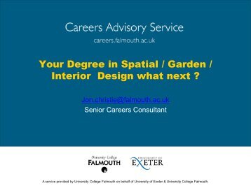 Your Degree in Spatial / Garden / Interior Design what next ?