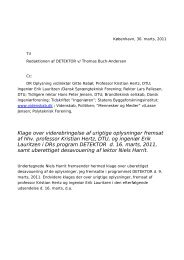 Niels Harrit klage over DR Detektor (pdf) - Denmark Online