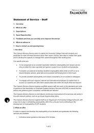 Staff - Careers Advisory Service - University College Falmouth