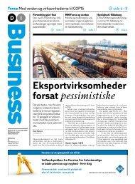 Eksportvirksomheder forsat pessimistiske - Dansk Industri