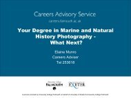 What Next? - Careers Advisory Service - University College Falmouth
