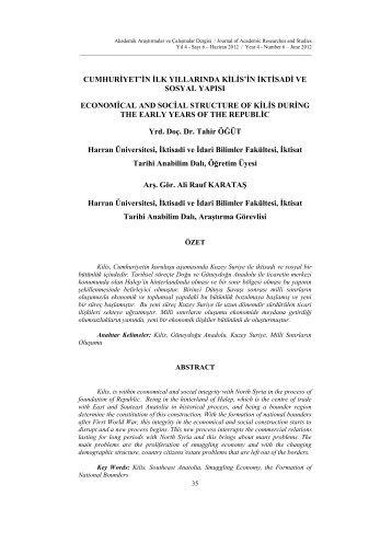 Tam Metin - PDF - İktisadi ve İdari Birimler Fakültesi - Kilis 7 Aralık ...