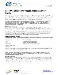EMIRATENE: Innovasjon Norge åpner kontor - Eksportaktuelt