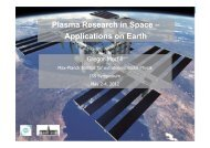 Plasma Research in Space – Applications on Earth - ESA Blog ...
