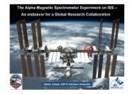 The Alpha Magnetic Spectrometer Experiment on ISS - ESA Blog ...