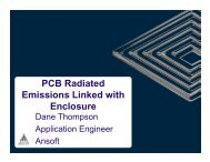 PCB Radiated Emissions With Linked Enclosure