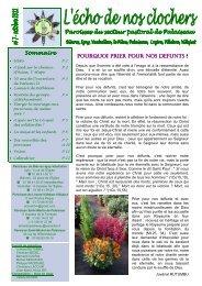 n°7 octobre - Echo de nos clochers - Secteur Pastoral de Palaiseau