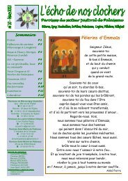n°10 mars 2013 - Secteur Pastoral de Palaiseau