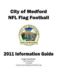 City of Medford NFL Flag Football - Medford Parks & Recreation