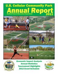2011 USCCP Annual Report - Medford Parks & Recreation