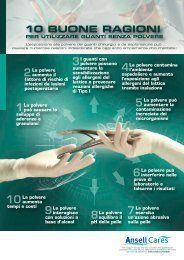10 BUONE RAGIONI - Ansell Healthcare Europe